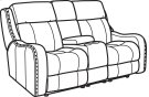 Springfield Fabric Power Reclining Loveseat with Console and Power Headrests Product Image