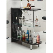Contemporary Glossy Black Bar Table