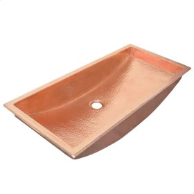 Trough 30 in Polished Copper