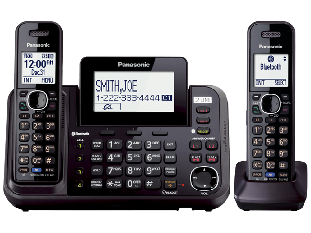 Link2Cell 2-Line Cordless Phone- 2 Handsets