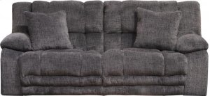 Power Lay Flat Reclining Sofa w/ Extended Ottoman