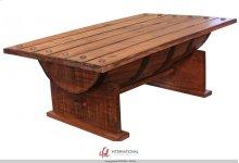 Cocktail Table w/wood Barrel shape