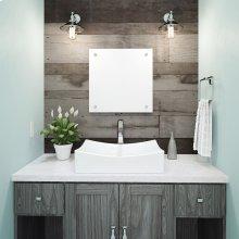 Kalina Rectangular Above-counter Vitreous China Bathroom Sink