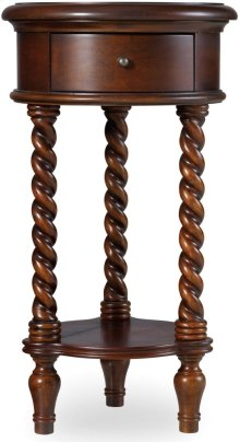 "14"" Inlay Top Round Accent Table"