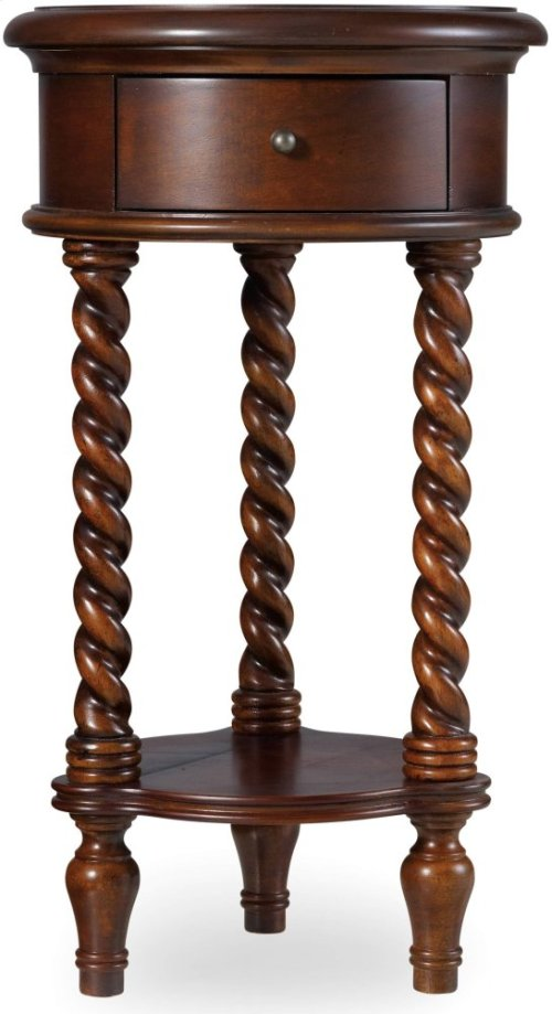 """14"""" Inlay Top Round Accent Table"""