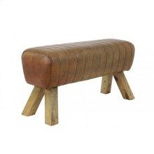 Bench 87x30x46 cm RAMY leather brown