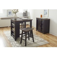 Madison County 3pc Counter Height Set - Vintage Black