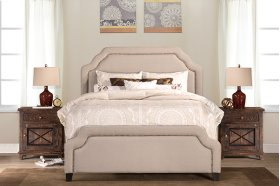Carlyle Cal King Bed Set - Rails Included - Lt Taupe