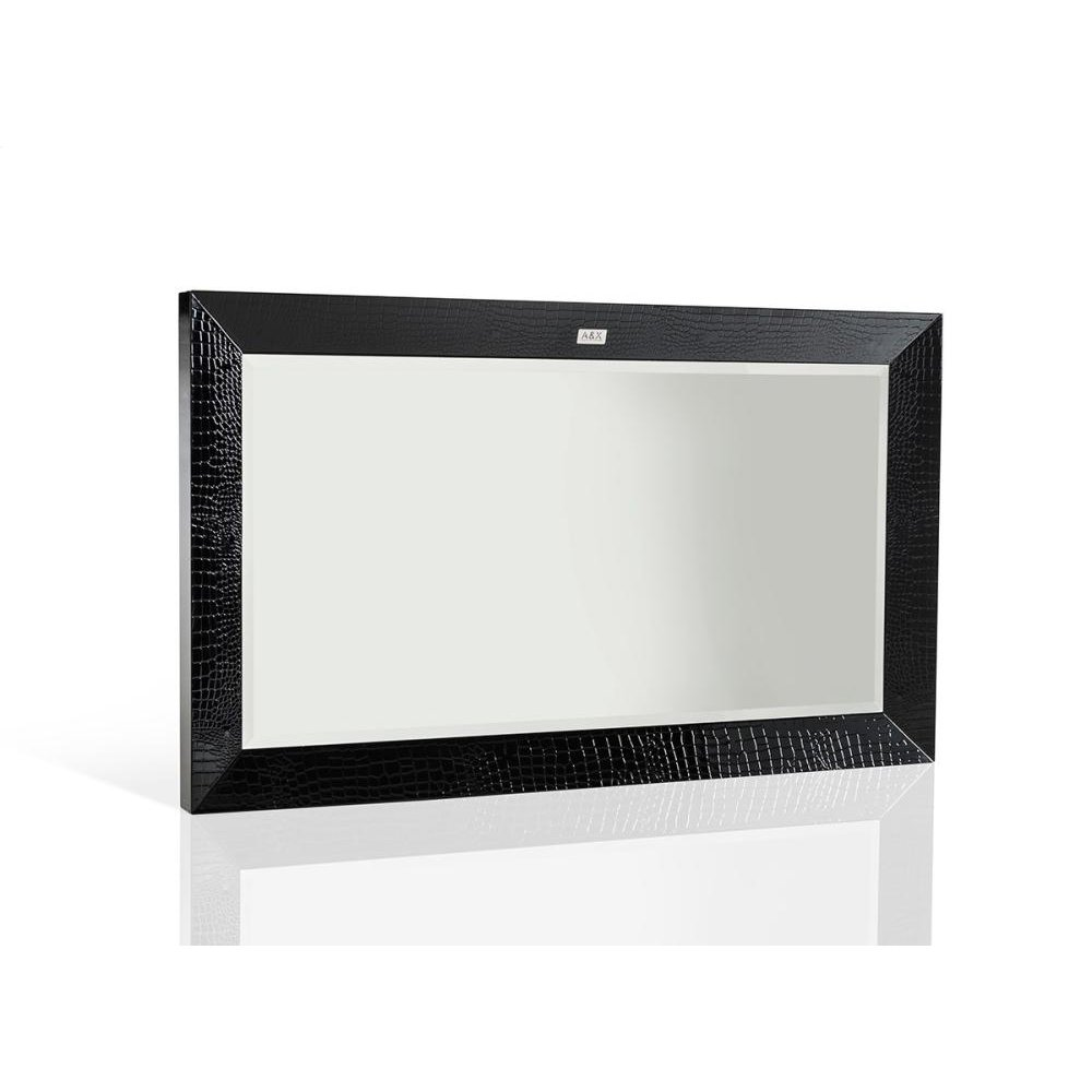 A&X Glam Modern Black Crocodile Mirror
