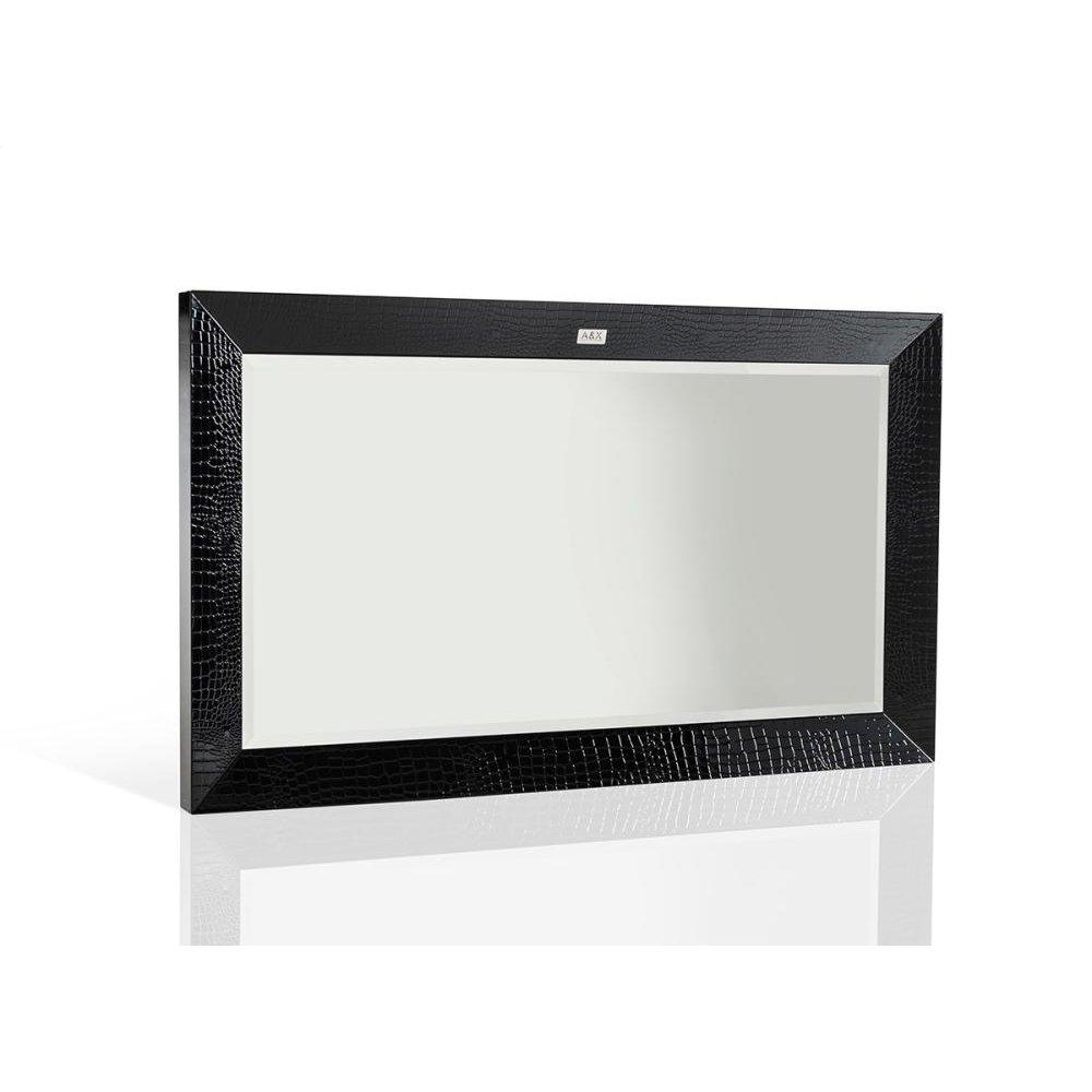 A&X Glam Modern Black Crocodile Mirror