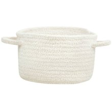 White Chenille Creations Basket