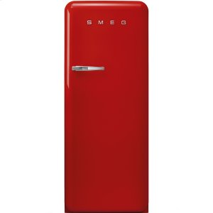 "SmegApprox 24"" 50'S Style Refrigerator with ice compartment, Red, Right hand hinge"
