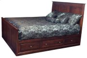 Alder Shaker Storage Bed Low 3 Drawers on each Side Queen Product Image
