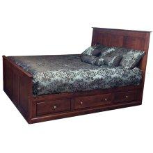 Queen Solid Alder Low Storage Bed