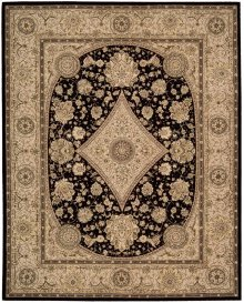 Nourison 2000 2239 Blk Rectangle Rug 5'6'' X 8'6''