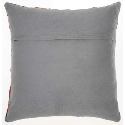 """Natural Leather Hide S2204 Multicolor 20"""" X 20"""" Throw Pillow"""