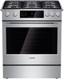 "30"" Dual Fuel Slide-in Range 800 Series - Stainless Steel"