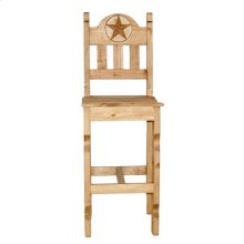 Marble Star Wood Bar Stool