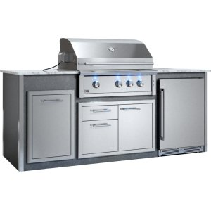 "Xo Ventilation  Appliance Ready Pre-Assembled 36"" Designer Island Gray"