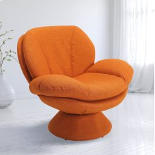 Rio Owaga Fabric (Orange) -360 Degree Swivel -Wing Arms -Padded Seat -All Steel Construction -Quality Fabric Cover