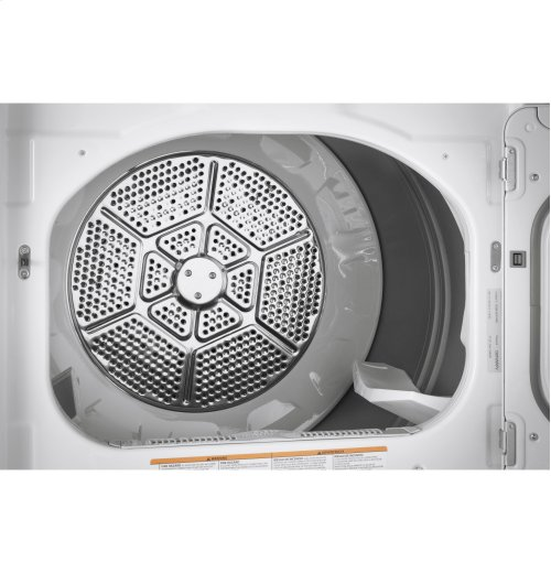 GE® 7.4 cu. ft. Capacity aluminized alloy drum Gas Dryer with HE Sensor Dry