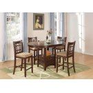 Lavon Transitional Warm Brown Five-piece Counter-height Set Product Image