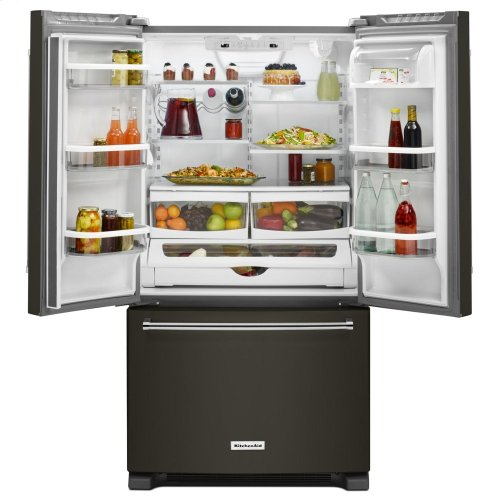 20 cu. ft. 36-Inch Width Counter-Depth French Door Refrigerator with Interior Dispense - Black Stainless Steel with PrintShield™ Finish