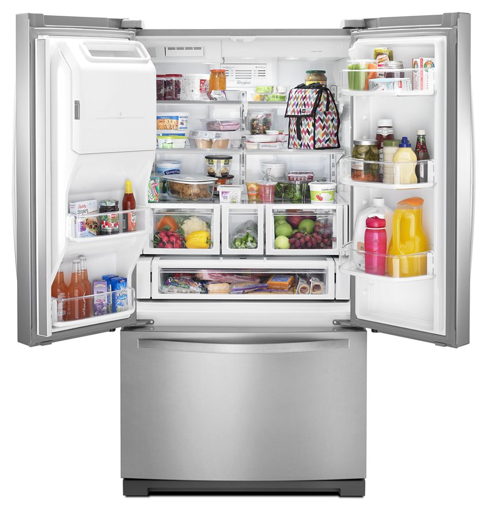 WHIRLPOOL 36 Inch Wide French Door Bottom Freezer Refrigerator With Dual  Icemakers   27 Cu