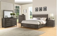 "Katy Queen Storage Bed Headboard, 62""x2""x32"""