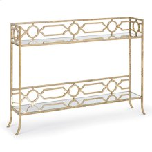 Geometric Shelf Console Table
