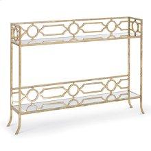Geometric Shelf Console Table