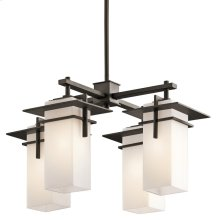 Caterham Collection Caterham 4 Light Outdoor Chandelier in Olde Bronze