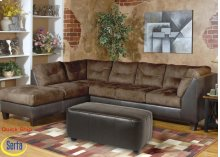 San Marino Chocolate / Padded Walnut LSF with Chaise