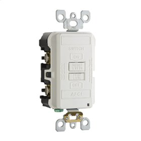 Specification Grade Dead Front Outlet Branch Circuit AFCI Receptacle, White
