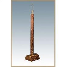 Glacier Country Log Floor Lamp