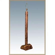 Glacier Country Log Floor Lamp