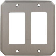Double Rocker Traditional Switchplate