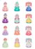 Additional Monthly Princess Belly Stickers (12 pc. set)