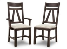 Algoma Side Chair With Fabric/Bonded Leather Seat