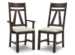 Algoma Arm Chair With Leather Seat