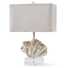 Silver Giant Clam Shell Lamp