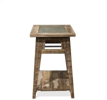 Chairside Table Rough-hewn Gray finish