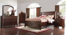 Prescott Queen Storage Sleigh Bed Group: Queen Bed, Nightstand, Dresser & Mirror