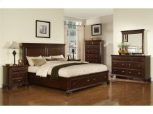 CN350QH Canton Cherry Storage Headboard