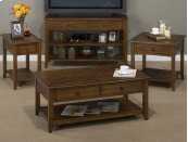 Sofa/media Table W/2 Drawers, 2 Shelves and Oval Brushed Nickel Hardware
