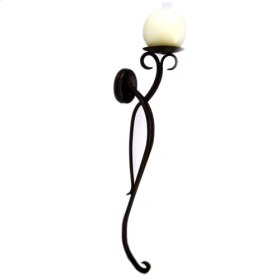 Forged Iron Wall Candelholder