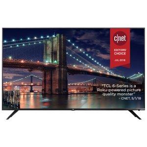 "TCLTCL 65"" Class 6-Series 4K UHD Dolby Vision HDR Roku Smart TV - 65R617"