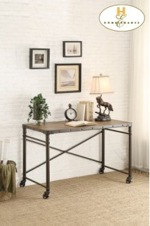 Writing Desk with Functional Wheels
