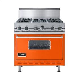 "Pumpkin 36"" Open Burner Commercial Depth Range - VGRC (36"" wide, four burners 12"" wide char-grill)"