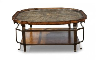 Continental Square Cocktail Table - Weathered Nutmeg